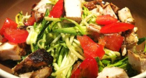 Zucchini Pesto Pasta (GF, DF, SF)(Raw, V, V+ Options)