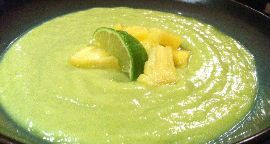 Pineapple + Avocado Gazpacho (RAW, GF, DF, NF, SF, V, V+)
