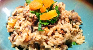 Brown Rice Pilaf w/Mushrooms + Apricots (GF, DF, SF, V, V+)