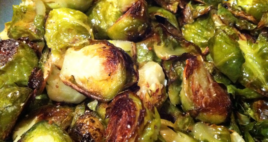 Oven Roasted Brussel Sprouts (GF, DF, NF, SF, V, V+)
