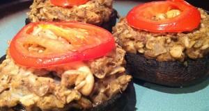 Vegan Stuffed Portobello Mushrooms (GF, DF, SF, V, V+)