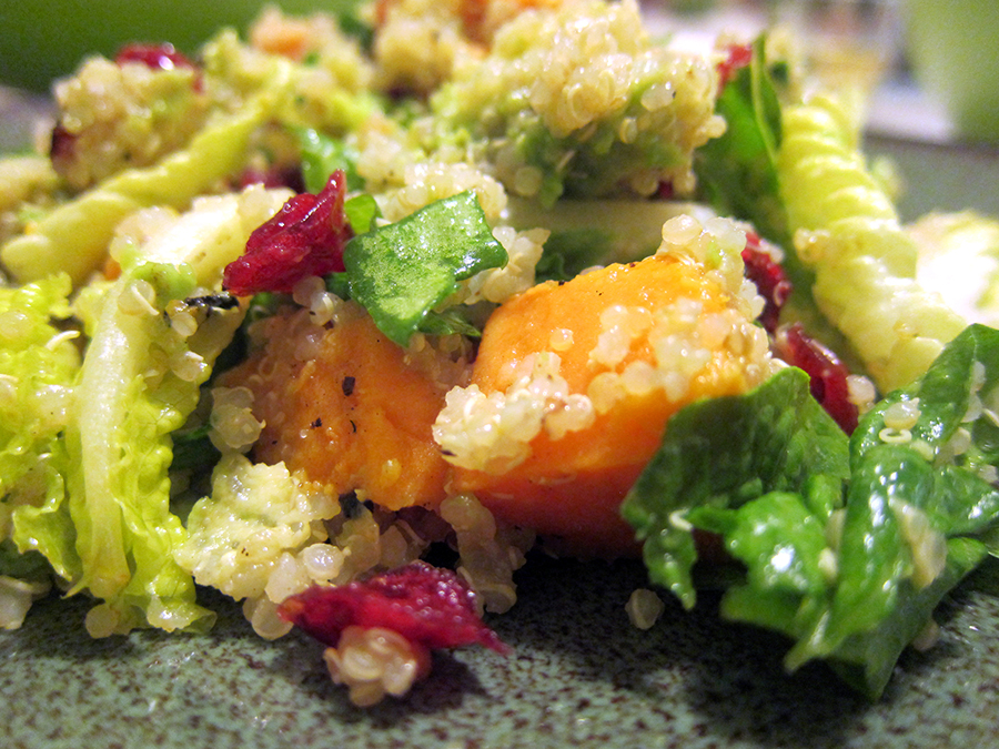 Sweet potato quinoa salad detail