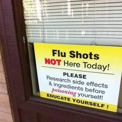 Flu Shots NOT Here!