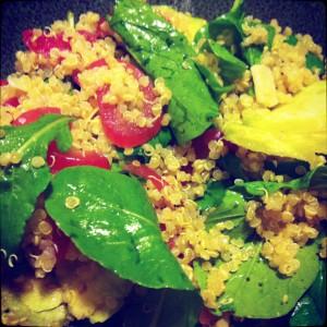 seasonal summer salad eggplant