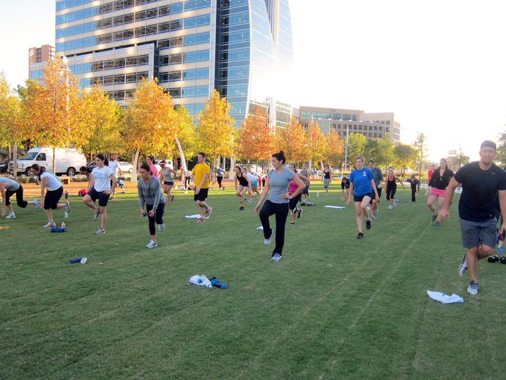 LWBF Boot Camp Klyde Warren Park 2