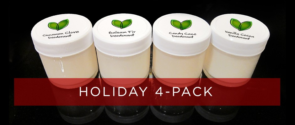 All-Natural Deodorant Holiday 4-Pack