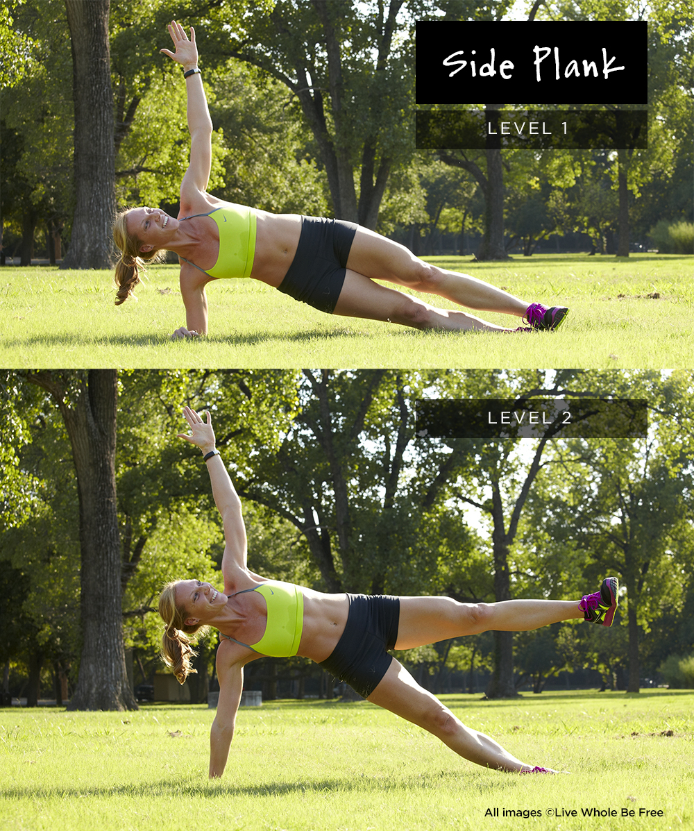 side plank level 1 + 2